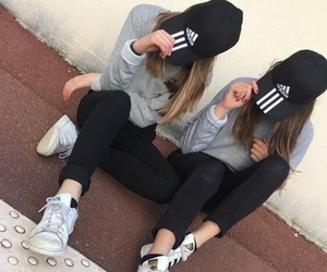 adidas, bff, and goals image