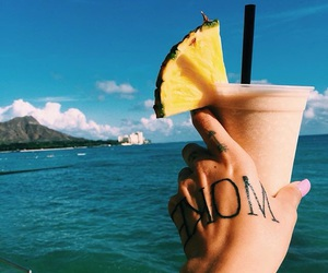summer fruits, drink drinks, and yum yummy delicious image