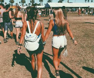 summer, friends, and coachella image