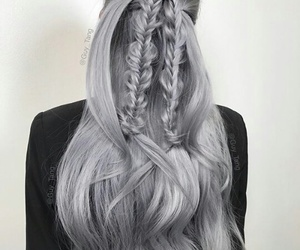 color hair, colorfull, and hairstyle image