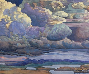 beautiful, clouds, and painting image
