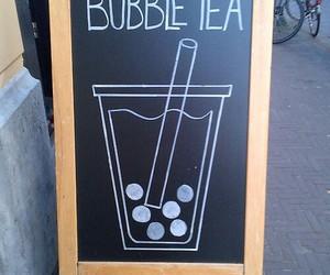 bubble tea, tea, and drink image