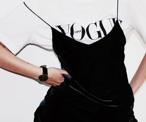 fashion, vogue, and black image