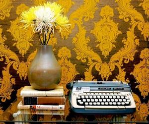 typewriter and yellow image