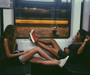 friends, train, and travel image