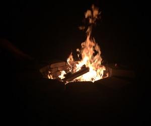 black, bonfire, and flame image