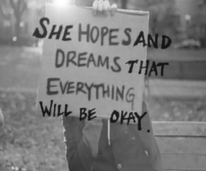 Dream, hope, and quote image