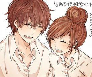 anime, couple, and kawaii image