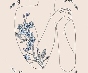 quotes, art, and flowers image
