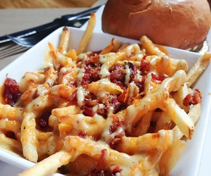 food, fries, and cheese image