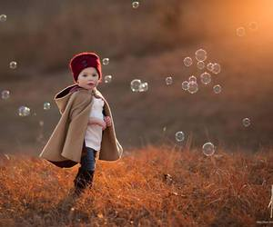 bubbles, beautiful, and child image