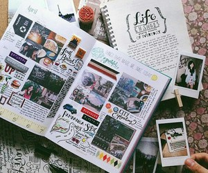 journal, photo, and art image