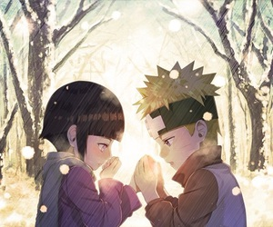 anime, naruhina, and naruto image
