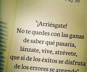 frases, vive, and arriesgate image