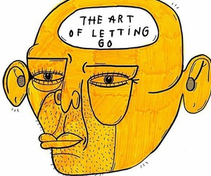 art, illustration, and letting go image