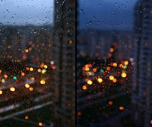 rain, light, and night image