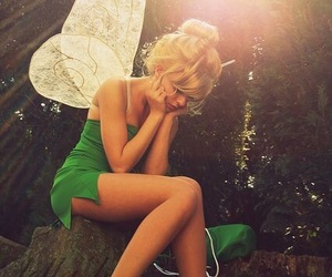 girl and tinkerbell image