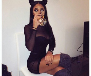 Halloween, black, and cat image