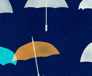 blue, umbrellas, and yellow image