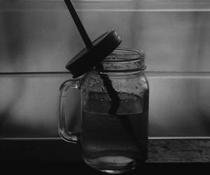grunge, masonjar, and blackandwhite image