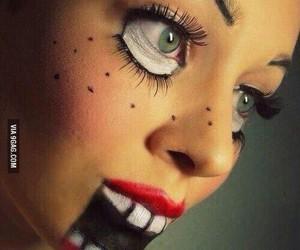 Halloween, doll, and make up image