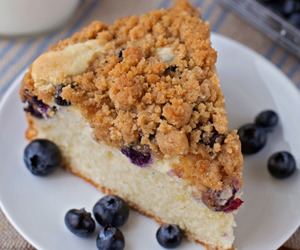 blueberry, crumb cake, and breakfast image