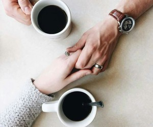 couple and coffee image