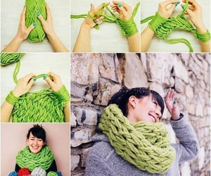 diy, scarf, and green image