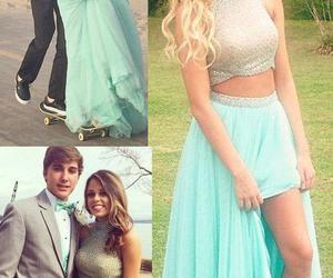 mint green prom dress image