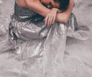 dress, grey, and model image