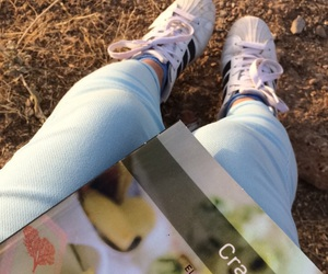 adidas, book, and cranford image