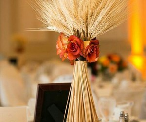 autumn, fall wedding, and fall centerpiece image