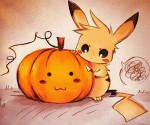 pikachu, Halloween, and pokemon image