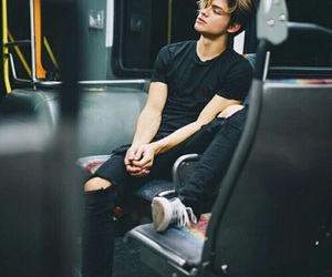 boy, bus, and Hot image