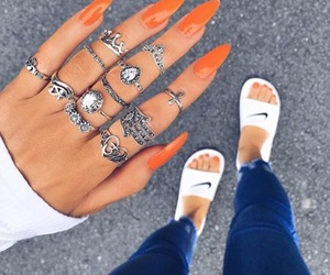 nails, nike, and style image