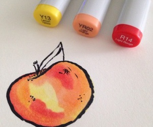 art, peach, and aesthetic image