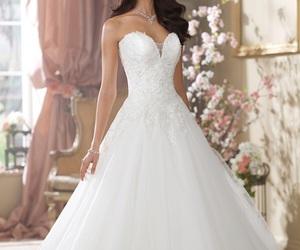 bride, princess, and wedding dress image