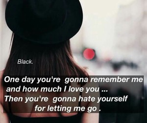 black, I Love You, and quotes image