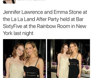 emma stone, Jennifer Lawrence, and la la land image
