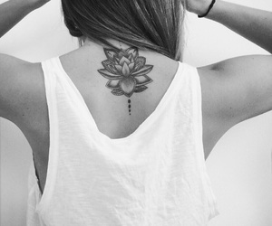 boho, lotus, and tattoo image