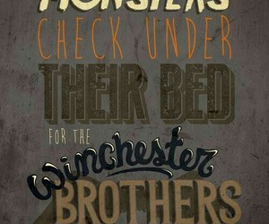 supernatural, winchester, and monster image