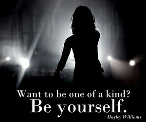 be yourself, black, and haley image