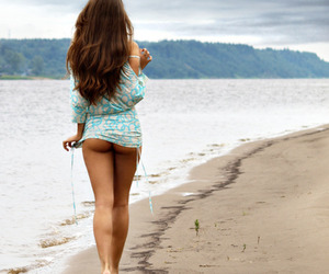 beach, girl, and sexy image