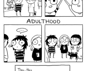 comic, friends, and sarah andersen image