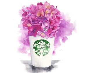 starbucks and flowers image