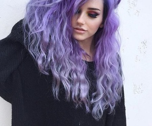 cheveux, long, and violet image