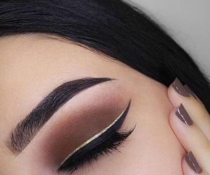 autumn, black, and eyeliner image