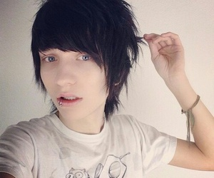 johnnie guilbert, emo, and emo boy image