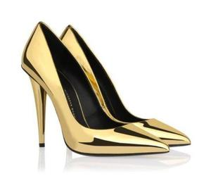 gold and heels image
