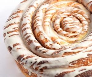 cake, cinnamon roll, and bread image